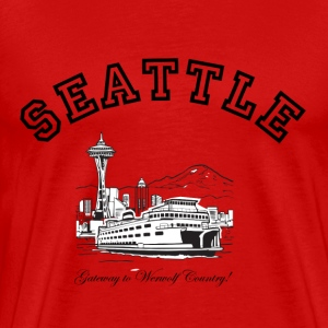 SEATTLE:  Gateway to Werewolf Country! T-Shirts - Men's Premium T-Shirt