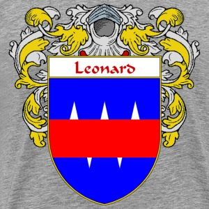 Leonard Coat of Arms/Family Crest - Men's Premium T-Shirt