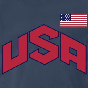 usa_olympic-sign_&_flag_3c T-Shirts - Men's Premium T-Shirt