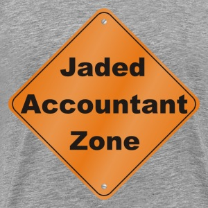 Jaded Accountant Zone - Men's Premium T-Shirt