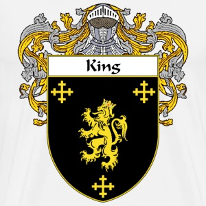 King Coat of Arms/Family Crest - Men's Premium T-Shirt