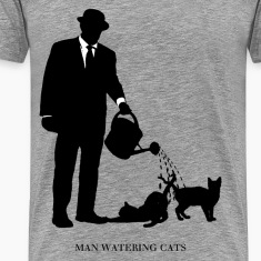 Man Watering Cats
