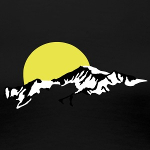 Mountains Sun Set sunset Women's T-Shirts - Women's Premium T-Shirt