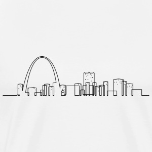 St Louis Skyline T-shirt - Men's Premium T-Shirt