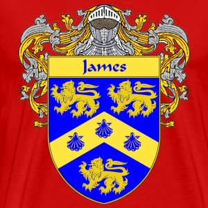 James Coat of Arms/Family Crest - Men's Premium T-Shirt