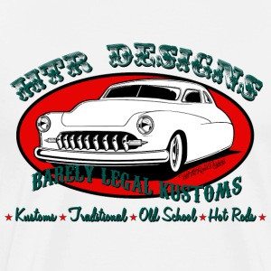 HTR Designs Barely Legal Kustoms Garage - Men's Premium T-Shirt