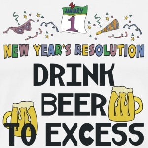 "New Year's Resolution ""Drink Beer To Excess"" T-Shirt - Men's Premium T-Shirt"