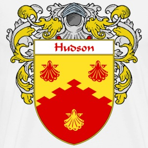 Hudson Coat of Arms/Family Crest - Men's Premium T-Shirt