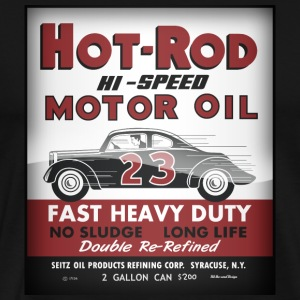 Hot-Rod Motor Oil vintage tin can reproduction - Men's Premium T-Shirt