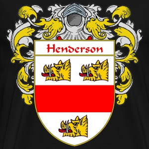 Henderson Coat of Arms/Family Crest - Men's Premium T-Shirt
