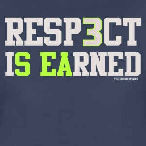 "VICT Women's Seattle ""Resp3ct Is Earned"" Shirt - Women's Premium T-Shirt"