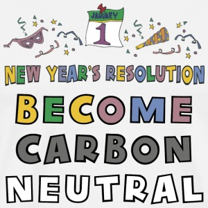 New Year's Resolution Become Carbon Neutral T-Shirt - Men's Premium T-Shirt
