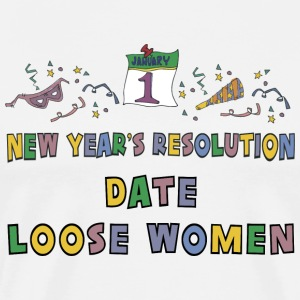 New Year's Resolution Date Loose Women T-Shirt - Men's Premium T-Shirt