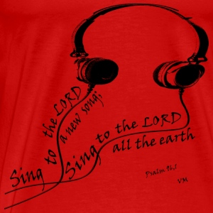 sing to the lord red T-Shirts - Men's Premium T-Shirt