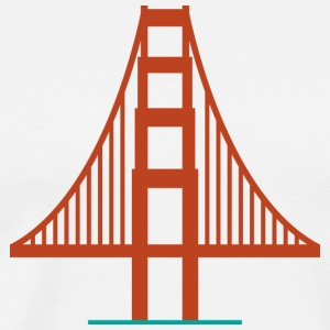 San Francisco Golden Gate Bridge Logo Shirt - Men's Premium T-Shirt