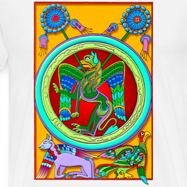 celtic_illumination__winged_lion T-Shirts - Men's Premium T-Shirt