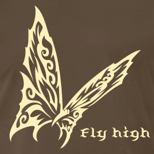 Butterfly Tribal Tattoo 1 T-Shirts - Men's Premium T-Shirt