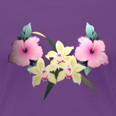 floral hawaiian tiki by patjila2 Women's T-Shirts