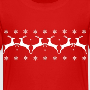 Reindeers and Snow Flakes - Toddler Premium T-Shirt