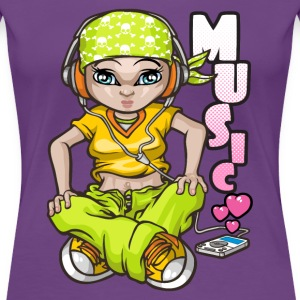 B-girl love music Women's T-Shirts - Women's Premium T-Shirt