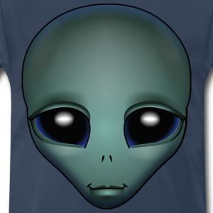 Friendly Alien T-shirt 4XL Alien Grey Shirts ET Gifts - Men's Premium T-Shirt
