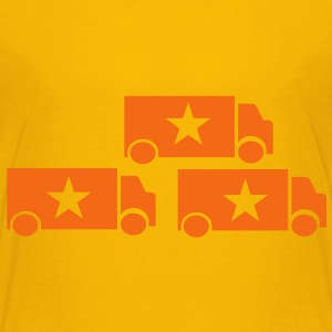 three trucks with stars single color Kids' Shirts - Kids' Premium T-Shirt