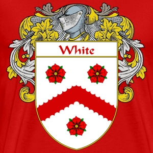 White Coat of Arms/Family Crest - Men's Premium T-Shirt
