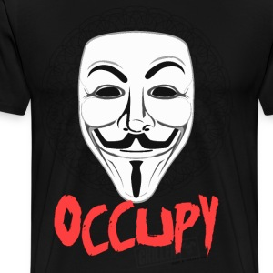 Occupy - Guy Fawkes Mask T-Shirts - Men's Premium T-Shirt