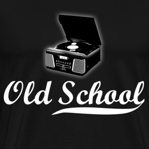 Old School Record Player - Men's Premium T-Shirt