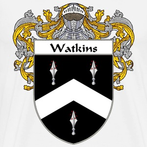 Watkins Coat of Arms/Family Crest - Men's Premium T-Shirt