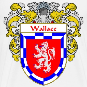 Wallace Coat of Arms/Family Crest - Men's Premium T-Shirt