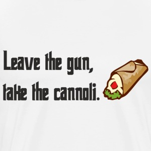Leave The Gun Take The Canolli T-Shirts - Men's Premium T-Shirt