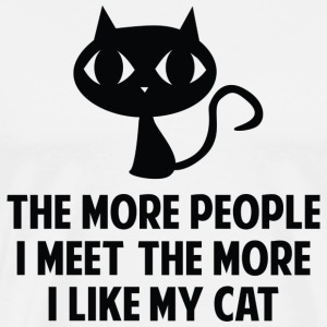 The More I Like My Cat - Men's Premium T-Shirt