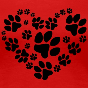 Paws Heart - Women's Premium T-Shirt