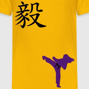 Meaning of Black Belt: Perseverance girls T shirt in yellow - Kids' Premium T-Shirt