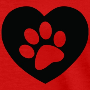 Heart Paw Print - Men's Premium T-Shirt