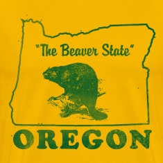 Oregon, The Beaver State men's vintage T