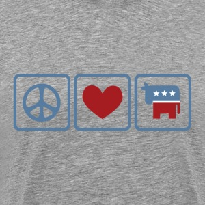 Peace, Love, Democrat - Men's Premium T-Shirt