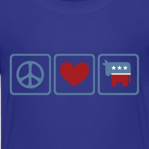 Peace, Love, Democrat - Kids' Premium T-Shirt