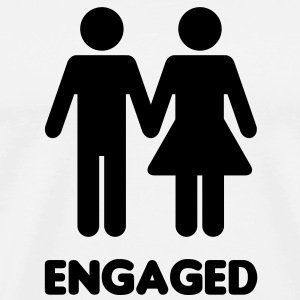 Engaged Couple Sign T-Shirts - Men's Premium T-Shirt