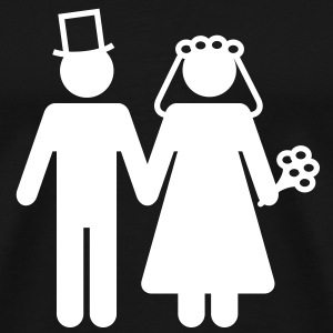 Bride and Groom - Add Your Own Text T-Shirts - Men's Premium T-Shirt