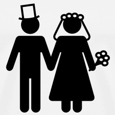 Bride and Groom - Add Your Own Text T-Shirts