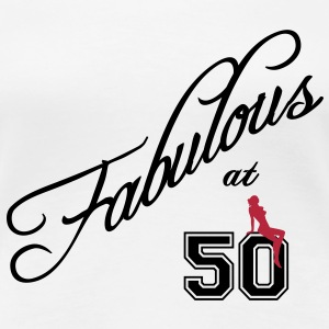 fabulous at 50 Women's T-Shirts - Women's Premium T-Shirt