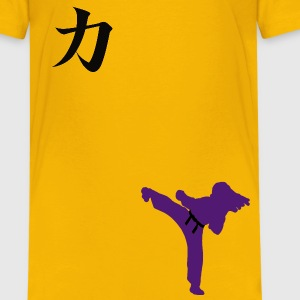 Meaning of Martial Arts: Strength Girls T shirt in yellow - Kids' Premium T-Shirt
