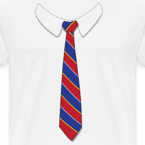 Fake Necktie Shirt - Men's Premium T-Shirt