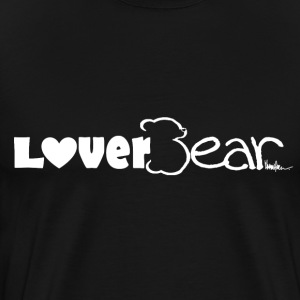 LoverBear logo T-shirt--black - Men's Premium T-Shirt