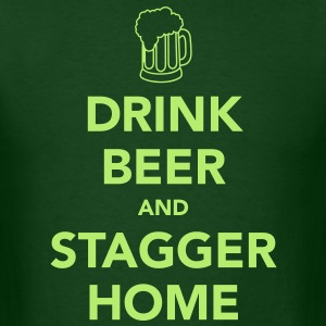 Drink Beer and Stagger Home St Patrick's Day - Men's T-Shirt