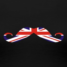 Union Jack Moustache, GB mustache Women's T-Shirts