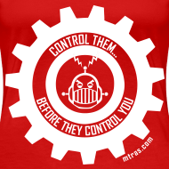Design ~ MTRAS Control The Robots White - Women's XL Tshirt