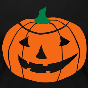 2 color Halloween Pumpkin vector Women's T-Shirts - Women's Premium T-Shirt